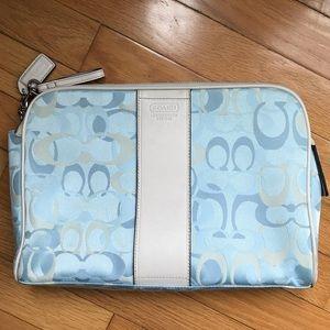 Coach Travel Cosmetic Bag, Blue